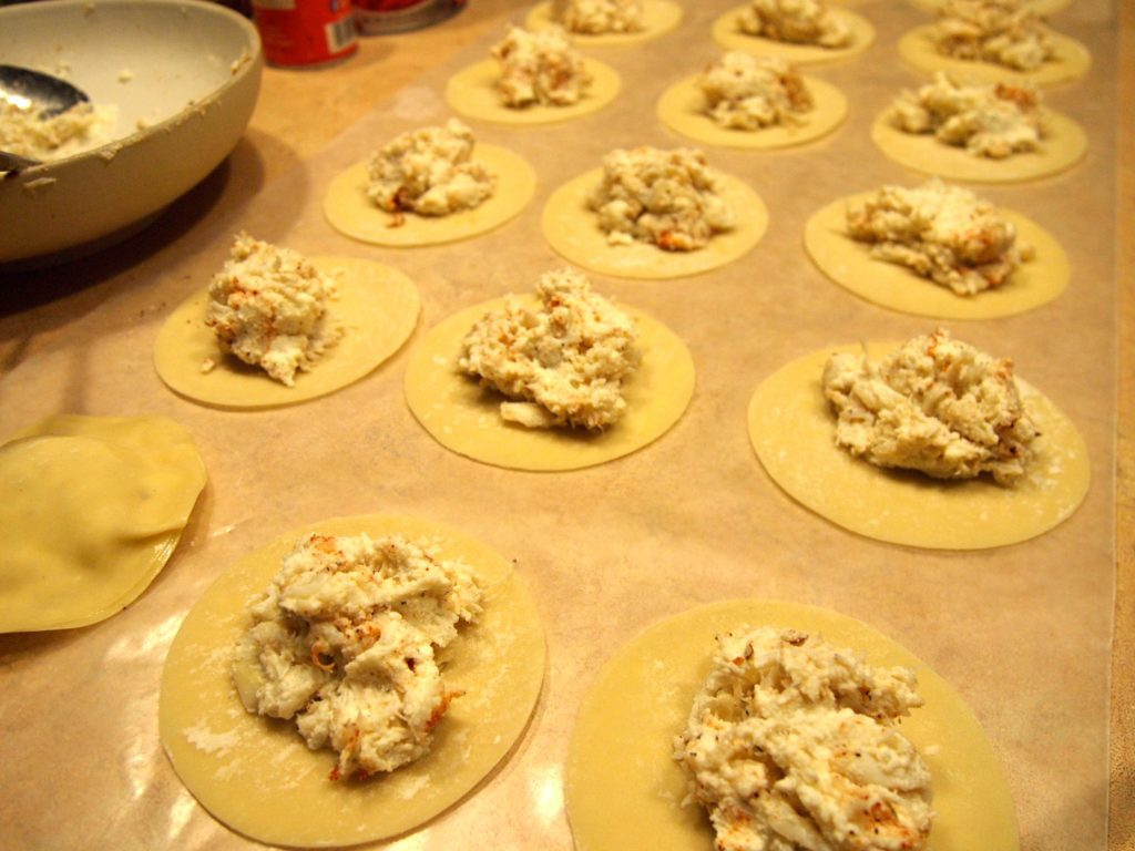 Cajun Creamy Crab Ravioli